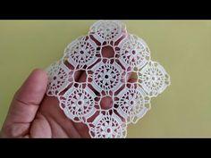 New Lace Model Diy Abschnitt, Modern Crochet Patterns, Square Patterns, Crochet Stitches Patterns, Doily Patterns, Crochet Designs, Crochet Daisy, Crochet Dollies, Crochet Flowers, Crochet Classes
