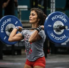 Lauren Fisher during event 3 at the 2014 CrossFit Regionals.
