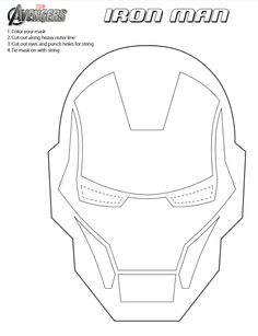 Jinxy Kids: Printable Iron Man Mask to Color #IronMan3Event