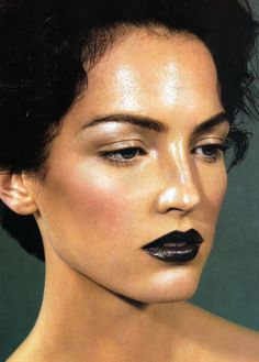 Gorgeous Black Lipstick For Women Looks Cool Makeup Inspo, Makeup Art, Makeup Inspiration, Hair Makeup, Ysl Beauty, Beauty Makeup, Hair Beauty, Smashbox Cosmetics, Benefit Cosmetics
