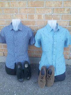 Ladies - Upgrade your boyfriend's #wardrobe with these #stylish shirts from #PlatosCloset! LESS than $10 each! | www.platosclosetnewmarket.com