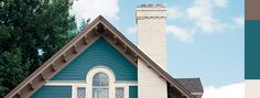 blue craftsman exterior color combinations - Google Search