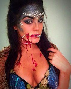 Hooked mermaid makeup