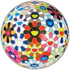 View Flower Ball (Lots of Colors) by Takashi Murakami on the KUMI Contemporary website