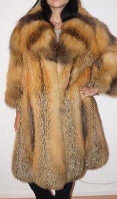 SOLDES SALE Manteau de fourrure Croix Renard Renard renard manteau renard VESTE FUR COAT шуба