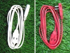 Organize Your Cables By Dyeing Them - Or to make them pretty or to blend them with your wall