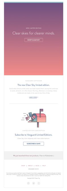 Clear Skies, the new Vanguard. - Really Good Emails