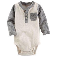 Baby Boy OshKosh B'gosh® Slubbed Henley Bodysuit, Size: Baby Outfits, Kids Outfits, Baby Boy Fashion, Kids Fashion, Bodysuit, Baby Time, Cute Baby Clothes, Babies Clothes, Babies Stuff