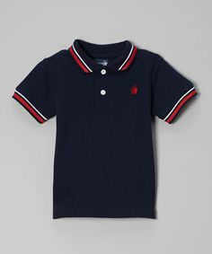 Take a look at this Navy & Red Polo - Infant & Toddler by Rugged Bear on #zulily today!