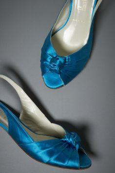 BHLDN Something Bleu Curtsey Kitten Heels $280