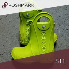 Crocs rain boots Lime Green Crocs kids rain boots. CROCS Shoes Rain & Snow Boots