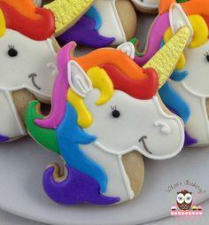 Galletas de unicornio por Whoosbakery en Etsy