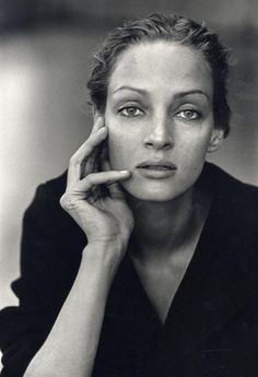 In a league of her own - Uma Thurman by Peter Lindbergh #piecesofthecloud