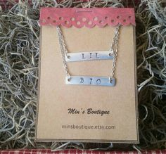 Check out this item in my Etsy shop https://www.etsy.com/listing/471126126/big-lil-necklace-bar-necklace-sorority