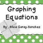 This is a set of linear equations graphing practice sheets.  Students write equations, make value tables, and graph the equations on coordinate gri...