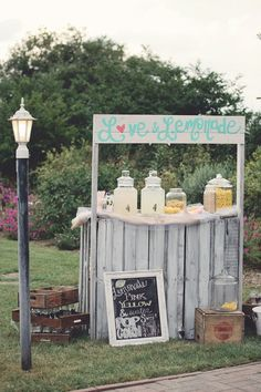 Wedding day lemonade stand. Photography by katielambphotography.com, Event Planning by somethingplannedllc.com
