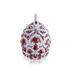 Faberge Ruby egg pendant locket