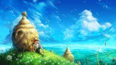 Dandelion Sky Print Fantasy Fine Art Nursery