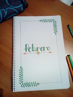 Universidad Diy Notebook, Decorate Notebook, Notebook Covers, Bullet Journal Mood, Bullet Journal Inspiration, School Notebooks, Cute Notes, Lettering Tutorial, School Notes