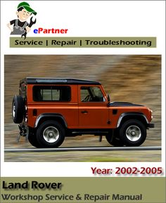 download land rover service manual pdf land rover service manual rh pinterest com 1994 Land Rover Discovery Range Rover 1995 Discovery
