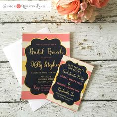 Bridal Brunch Bridal Shower Invitation (PRINTED FILE) by DesignbyKristinLynn on Etsy