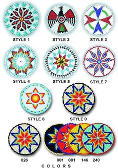 Imported Beaded Rosettes, 1-1/2