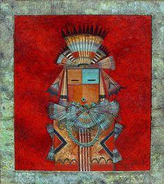 "Tony Abeyta (Navajo) ""Single Yeii on Red"""
