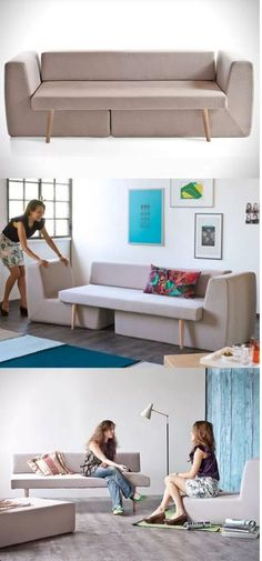 SHARESREAD NEXT You can use some DIY space-saving furniture ideas if you have a small home with small space. These ideas are suitable to make more free space inside your home using unique furniture. Space-saving furniture now is Multifunctional Furniture, Smart Furniture, Modular Furniture, Space Saving Furniture, Pallet Furniture, Furniture Design, Modular Sofa, Furniture Ideas, Metal Furniture
