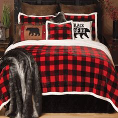 Buffalo Plaid Plush Bed Set - King