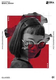 Glasses Poster Design 01 Collection Minimalist and Creative Art by Zeka Design -. - Glasses Poster Design 01 Collection Minimalist and Creative Art by Zeka Design -… Glasses Poste - Graphic Poster, Creative Typography, Illustration Design, Japanese Graphic Design, Poster Layout, Graphic Design Typography Poster, Typography Poster