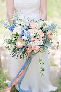 24 Purple & Blue Wedding Bouquets ❤ See more: http://www.weddingforward.com/purple-blue-wedding-bouquets/ #weddings #bouquets