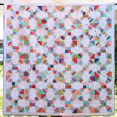 """""""Scrap-Apple Quilt"""" from my Scrappy Project Planner photo shoot...scrappy happy!!! ✂️ #beeinmybonnet #scrappyprojectplanner #ScrapAppleQuilt #fqsfun"""
