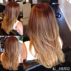 Highlight long layers to create volume for thin hair.