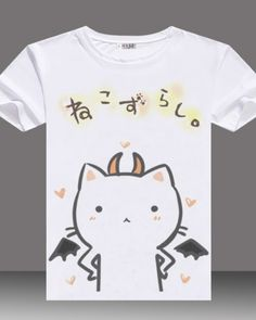Devil cat t shirts for teenage girls cute animal tops white plus size