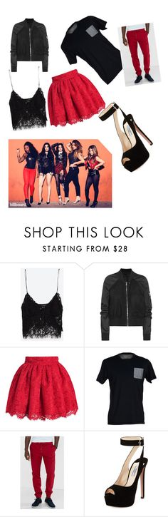 """""""fifth harmony date goals"""" by maddieemoo17 ❤ liked on Polyvore featuring Zara, Rick Owens, SELECTED, Express and Prada"""