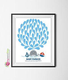 Adorable bébé nautique baleine ancre voile par CherryImprintDesign