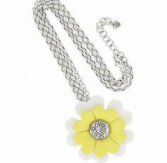 Brighton Corsage Necklace Silver-Enamel