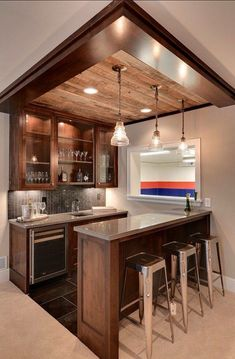 Home Bar Designs Offer Great Pleasure And A Stylish Way To Entertain At Home.  Home Bar Designs Add Values To Homes And Beautify The Game Room ...