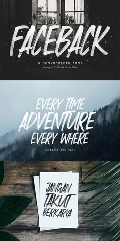 Faceback - SVG Brush Font Faceback is a font made with brush texture. The level of accuracy contained in this font is very sharp, so you will find it exactly as we brush this type with brush pen. Cool Typography, Typography Letters, Graphic Design Typography, Cool Fonts, Lettering Design, Typography Inspiration, Graphic Design Inspiration, Free Typeface, Commercial Fonts