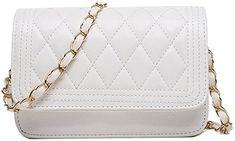 Donalworld Women Handbag Shoulder Bags Tote Purse Pu Leather Messenger Bag White: Handbags: Amazon.com
