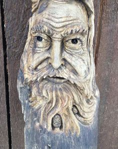Wood Spirit Carving, Hand Carved Wood, Unique Wall Sculpture, A Perfect Wood Gift, Handmade in Ohio by Josh Carte, Unique Wood, Driftwood