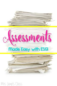 Assessments Made EASY and a BIG FREEBIE - Mrs. Jump's Class