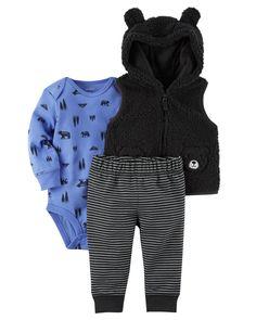 Baby Boy 3-Piece Little Vest Set   Carters.com
