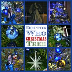 Doctor Who Christmas Tree with Weeping Angel Topper!
