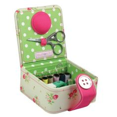 Button It - Floral Sewing Starter Kit with Green Polka Dot Lining Button It http://www.amazon.com/dp/B004P3SVM2/ref=cm_sw_r_pi_dp_E8Wiub0ACNTE7