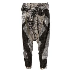 Faith Connexion sequin embellished harem pants Galiano ($975) ❤ liked on Polyvore featuring pants, faith connexion, faith connexion pants, harem trousers, sequin trousers and sequin harem pants