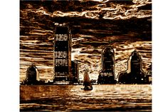 Storm over Chicago Bronze  www.theartofrwfirestone.com