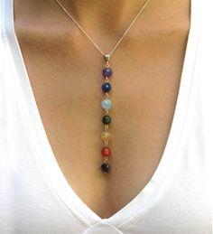 Collar de minerales - representación de chakras