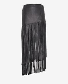 Loose Ends: Exclusive for INTERMIX Leather Fringe Skirt