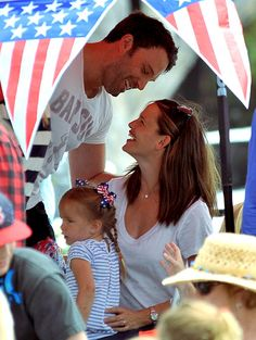 Ben Affleck and Jennifer Garner's Love Story: July 5, 2012 - Jennifer & kids join Ben on film location in Puerto Rico. (Ben wants another baby! Jen's not too sure.)